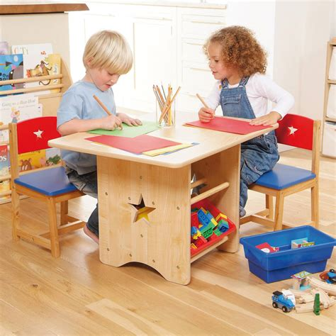 childrens table and chair set with storage table 2 chair set for childrens playrooms in s a
