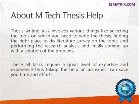coming up with a dissertation topic m tech thesis help