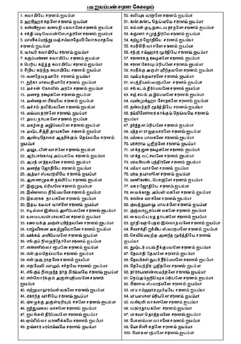 [PDF] 108 Ayyappan Sarana Gosham in Tamil PDF Download in