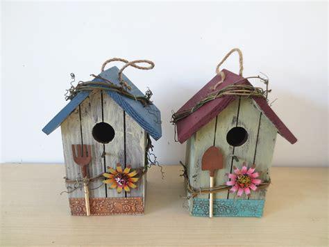 wooden bird house wood bird nest garden decoration bird