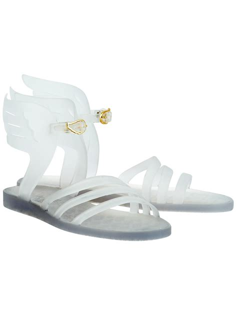 clear jelly sandals ancient sandals ikaria wing jelly sandals clear in