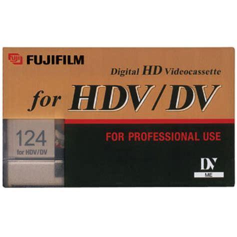 hdv cassette fujifilm hdv dv 124 minute videocassette 24043124 b h photo