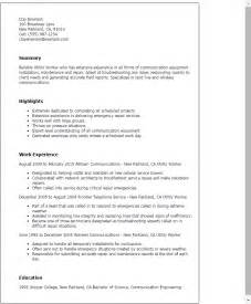 Worker Resume by Professional Utility Worker Templates To Showcase Your Talent Myperfectresume