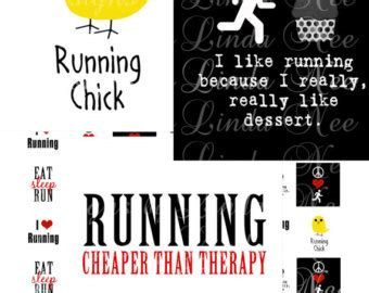 printable running quotes instant download running quotes 1 x 1 inch images sale