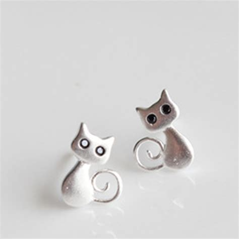 real 925 sterling silver jewelry animal cat