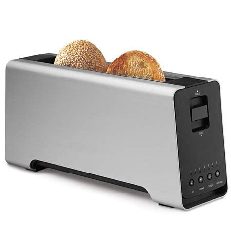 Best Long Slice Toaster The Best Two Slice Toaster Hammacher Schlemmer