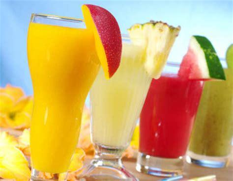 jus buah  susu minuman sehat  pagi hari