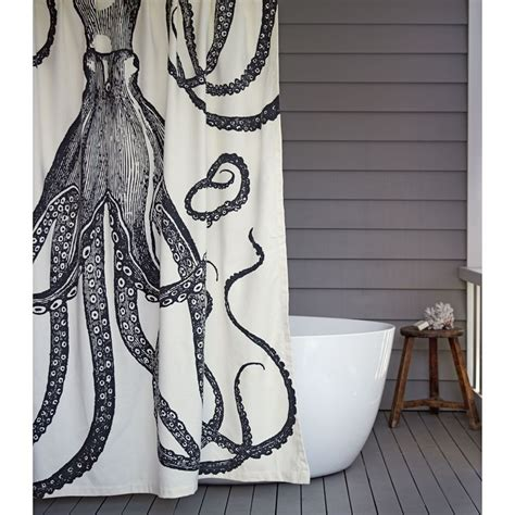 octopus curtains octopus shower curtain