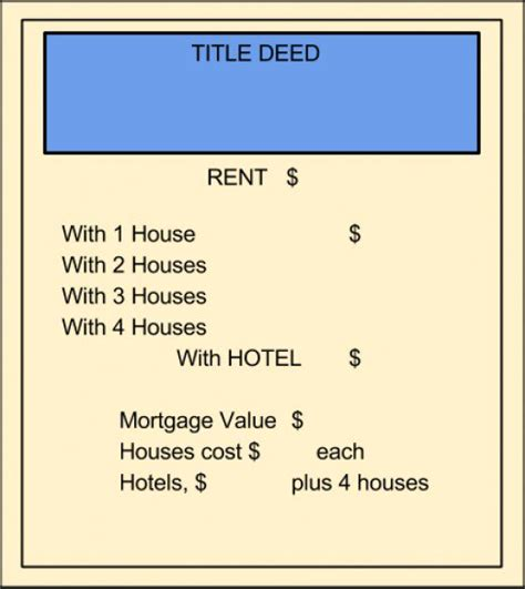 Real Estate Cards In Monopoly Template by Print Your Own Monopoly Property Cards