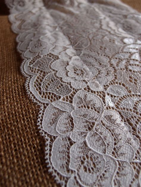 vintage style table runners vintage burlap and lace style no 3 wedding table runner