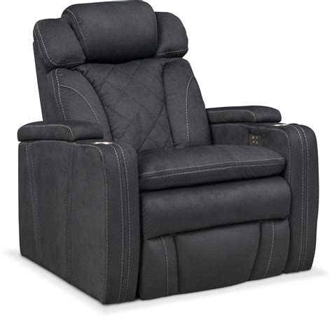 charcoal recliner fiero power recliner charcoal american signature furniture