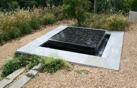 modern water features modern square sunken pond layered water feature