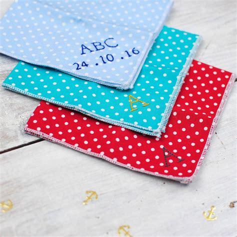 Handmade Handkerchief - handmade personalised handkerchief polka dot by