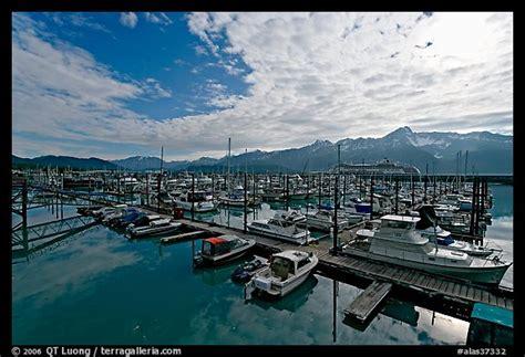 seward boat harbor seward ak picture photo small boat harbor morning seward alaska usa