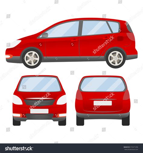 vehicle vector templates car vector template isolated family stock vector