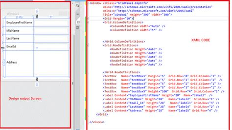 xaml default layout various types of panels in xaml layout
