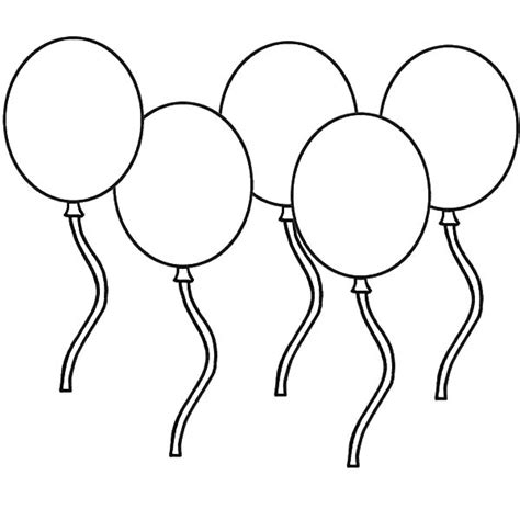 Free Coloring Pages Of 6 Balloons Balloons Coloring Pages
