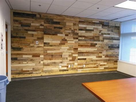 accent wall made out of pallets pallet wood projects pallet wood powered accent wall pallet ideas recycled