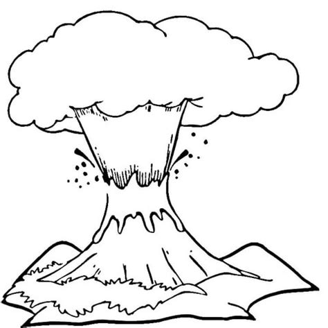 coloring pages of lava girl volcano eruption coloring page supercoloring com