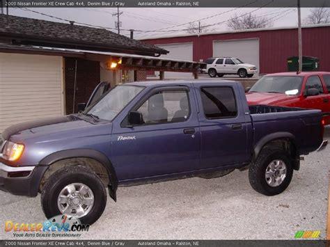 nissan 2000 4x4 2000 nissan frontier xe crew cab 4x4 denim blue gray