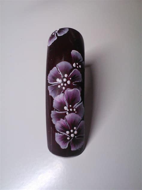 imagenes de uñas acrilicas mano alzada ๑ dise 241 o mano alzada flores simples ๑ youtube