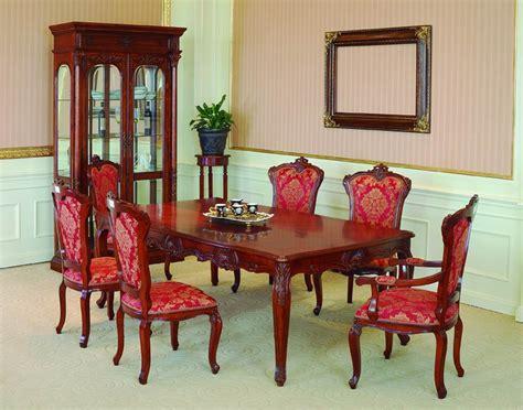 lavish antique dining room furniture emphasizing classic