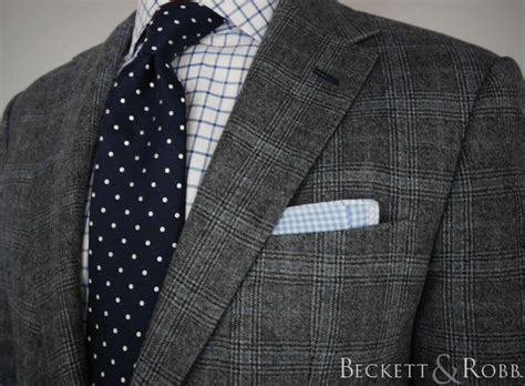 pattern grey suit custom suit by beckett robb for a client loro piana 12