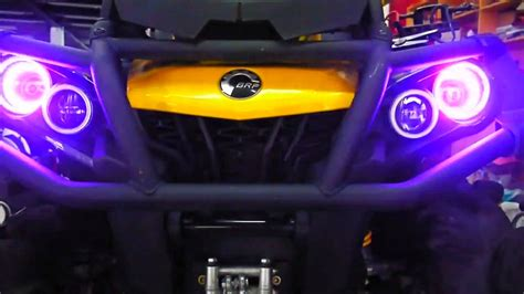 can am halo lights can am xmr1000 light system diy ii youtube