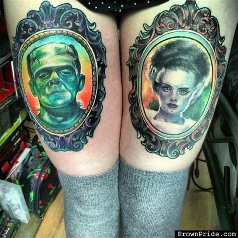 bride of frankenstein tattoo best tattoos of frankenstein s and the of
