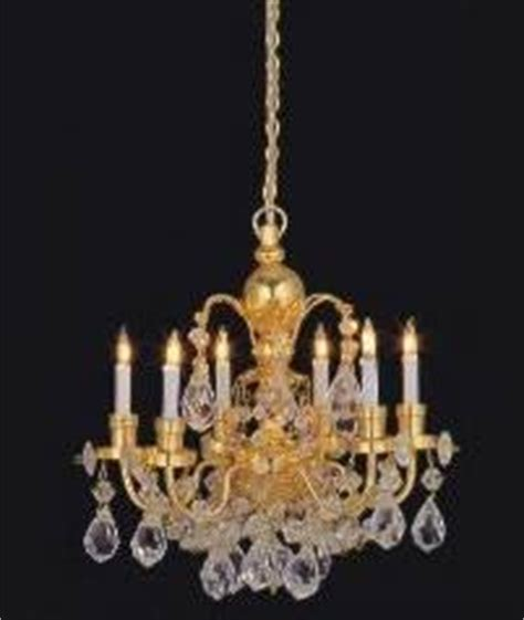 dolls house chandelier dolls house real crystal chandelier 6 arm amazon co uk toys games
