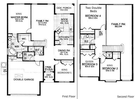 5 Bedroom House Plan by 5 Bedroom House Floor Plans 171 Floor Plans