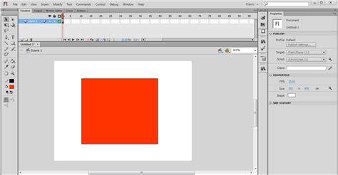 membuat iklan dengan adobe flash membuat animasi perubahan bentuk dengan adobe flash