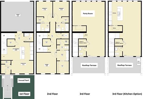 three story floor plans 23 surprisingly 3 story townhouse floor plans