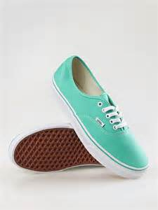 colored vans mint color vans shoes