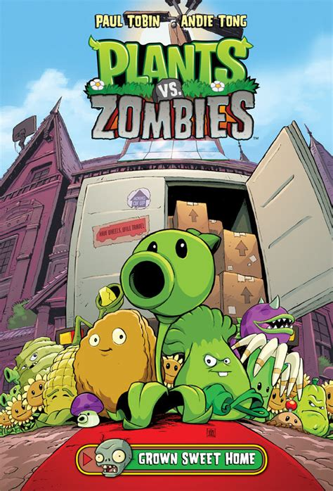 plants vs zombies volume 4 grown sweet home hc comix