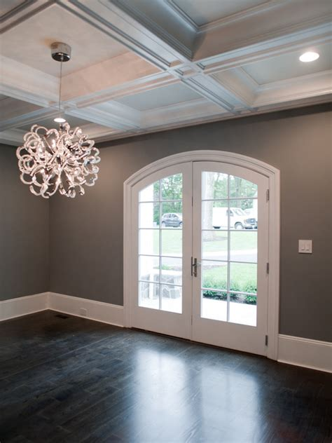 grey walls dark gray walls transitional dining room muralo pain