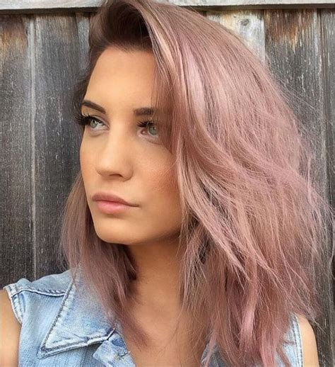 rose gold hair color rose gold hair color trend for 2017 new hair color ideas
