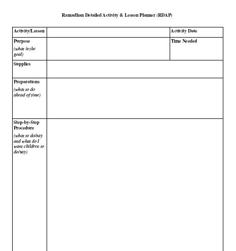 read aloud lesson plan template ramadhan activity planner guide forms