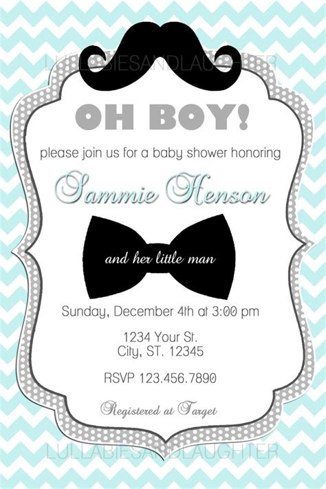 Custom Invitations by Custom Baby Shower Invitations For Boys Theruntime