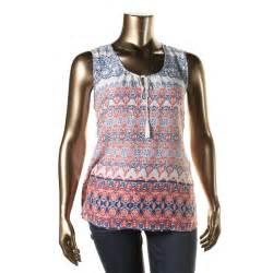 lunch lounge 2468 womens printed sleeveless tank top blouse bhfo ebay