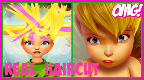 haircut games youtube disney fairies pixie hollow real haircuts tinker bell
