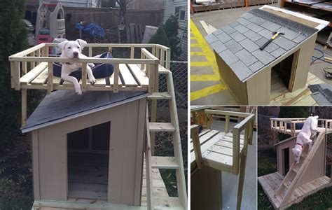 how do you make a dog house in minecraft diy dog house with roof top deck home design garden architecture blog magazine