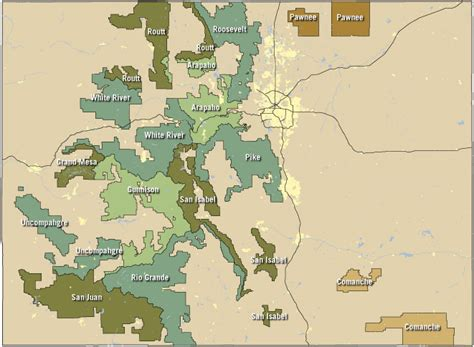 map us national forests free cing in colorado find dispersed csites in co