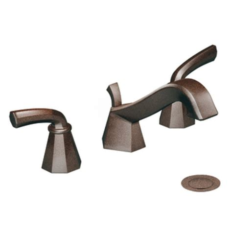 moen oil rubbed bronze bathroom faucets shop moen felicity oil rubbed bronze 2 handle widespread