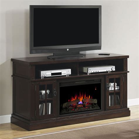 dakota electric fireplace entertainment center in caramel