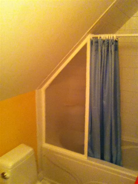 shower curtain rod for angled wall bathroom what is the best way to install a shower