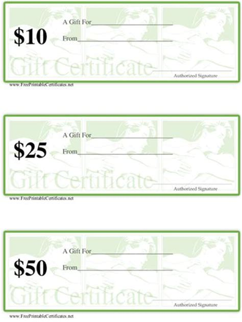 printable gift certificate spa massage gift certificate exles