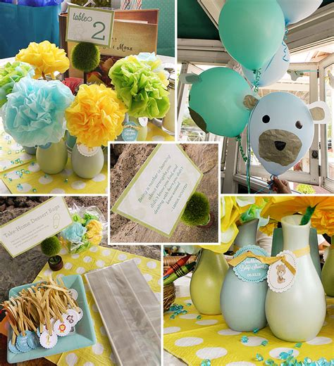 Baby Animal Baby Shower Decorations by Bun Animal Themed Baby Shower