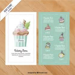 cupcake menu template cupcake menu template vector premium