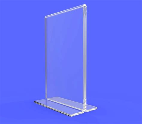 plastic table tents clear acrylic table tent frame photo sign menu holder